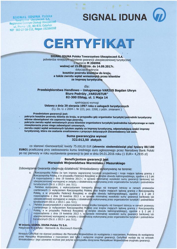 Certyfikat-biura-Variustur-2017