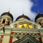 Kraje nadbałtyckie Tallin Estonia Katedra
