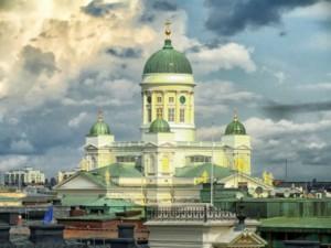 Kraje nadbałtyckie Finlandia Helsinki Katedra Luteraska
