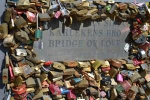 Kraje nadbałtyckie Finlandia Helsinki Most miłości