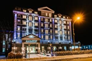 Truskawiec Sanatorium Hotel Alcor zimą
