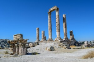 Pielgrzymka do Jordanii Świątynia Herkulesa Amman Wzgórze Cytadeli