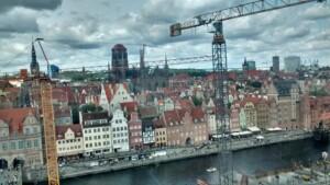 Wycieczka Trójmiasto Gdańsk widok na miasto. Zdjęcie własnością Biura Podróży Variustur