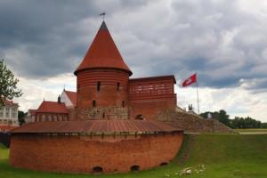 Kraje nadbałtyckie Zamek Kowno