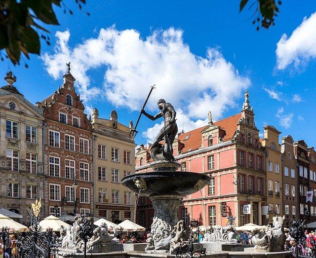 Wycieczka Gdańsk pomnik Neptuna Pixabay License